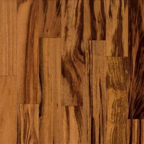 Tigerwood Hardwood Flooring Home Depot by Bruce World Exotics Tigerwood 3 8 In X 3 1 2 In