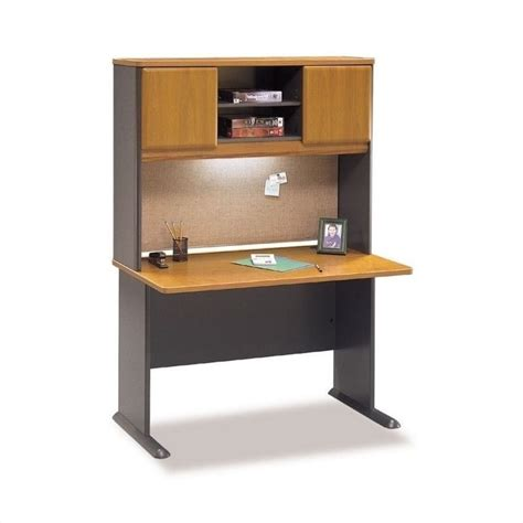 cabot 60 quot l shaped computer desk with hutch in harvest