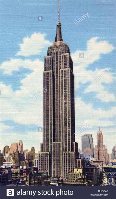 Empire State Building New York City New York Usa 1951