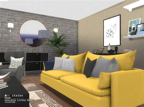 walken living room  artvitalex  tsr sims  updates