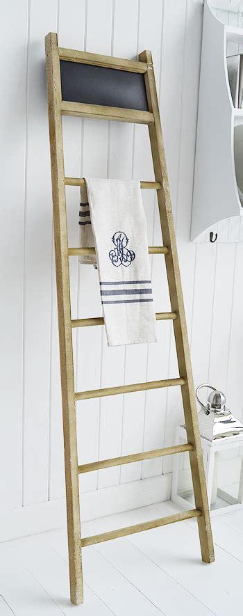 dorchester tea towel holder towel ladder   white
