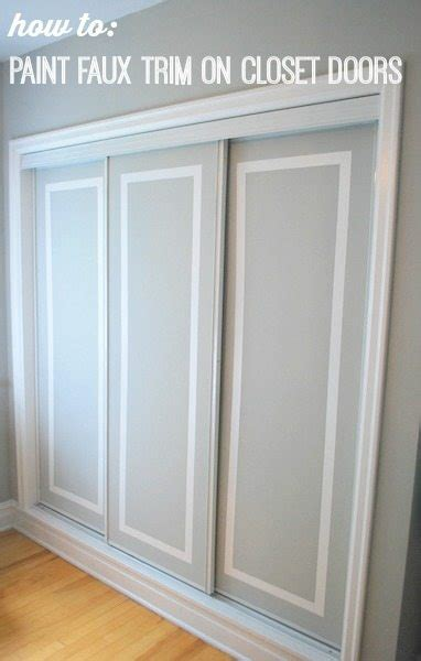 two tone kitchen cabinet ideas painted sliding closet doors faux trim effect the
