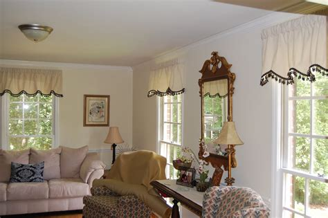 White Classic Valance Curtains For Living Room Hanging