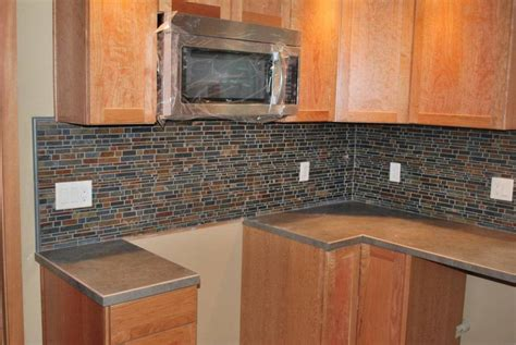 Slate Backsplash Tiles For Kitchen : Slate And Tile Backsplash