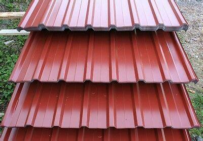trapezblech 3 wahl trapezblech dunkelrot trapezbleche profilblech dachplatten stahlblech 1 wahl rot eur 7 99