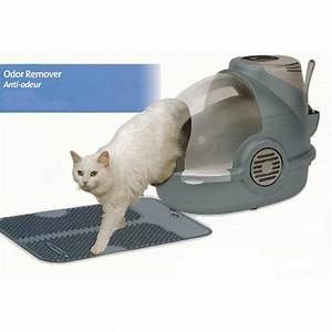 Litiere Chat Sans Odeur : maison de toilette pour chat anti odeurs oster bionaire ~ Premium-room.com Idées de Décoration