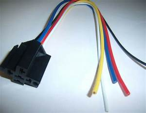 5  12v Dc Standard Relay Socket Harness 5 Pin Wire 16