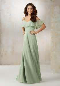 bridesmaids dress chiffon the shoulder bridesmaids dress style 21509 morilee