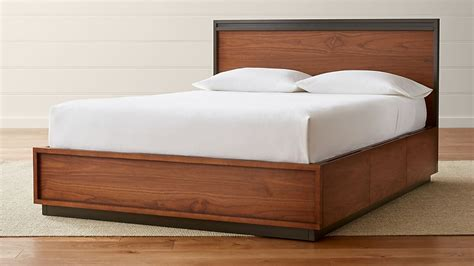 blair queen storage bed reviews crate  barrel