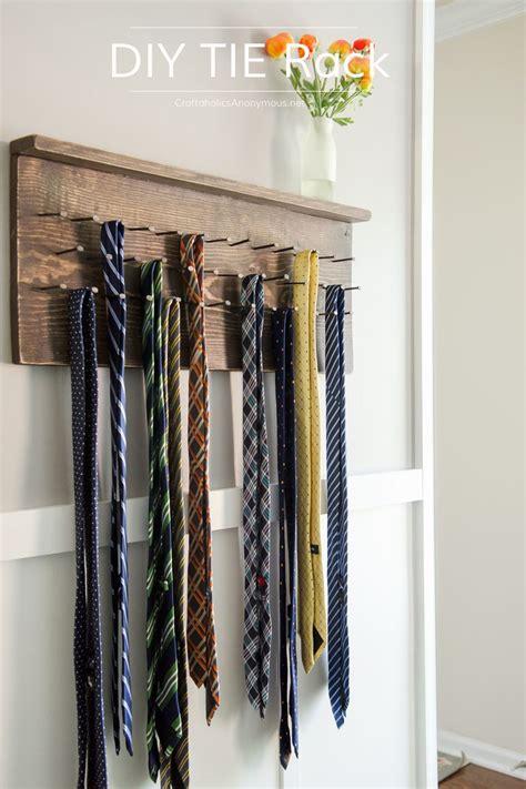 diy tie rack tutorial tie rack rustic furniture rustic doors