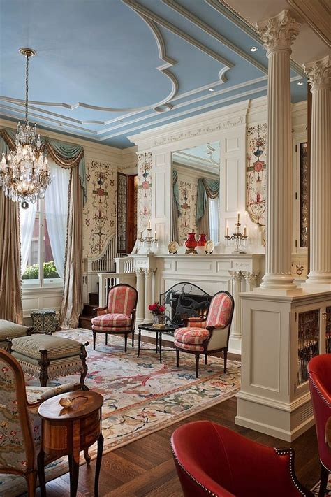 beautiful living room  victorian flair   touch