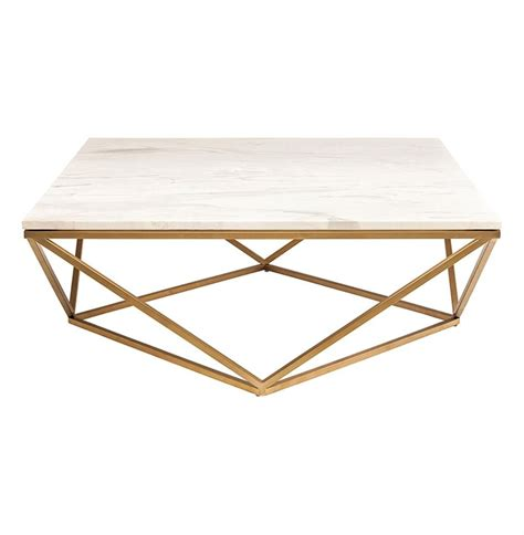 Coffee table white marble effect with gold delano. Rosalie Hollywood Regency Gold Steel White Marble Coffee Table | Brass coffee table, Coffee ...