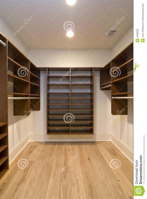 large walk in closet stock photo image of wood walk