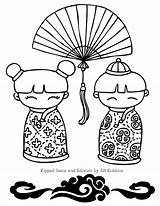 Coloring Chinese Lunar Celebrate Crafts sketch template