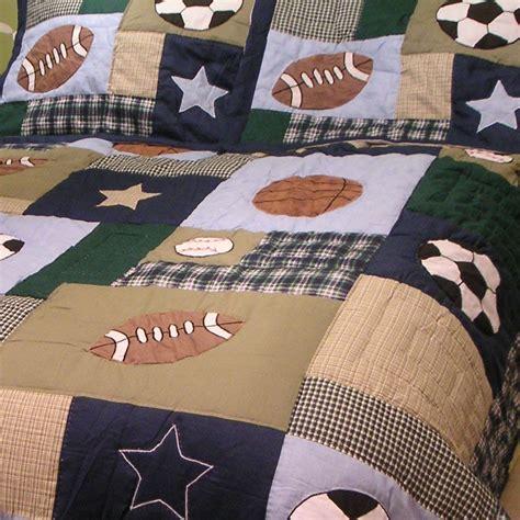 sports patch boys quilt townhouse linens