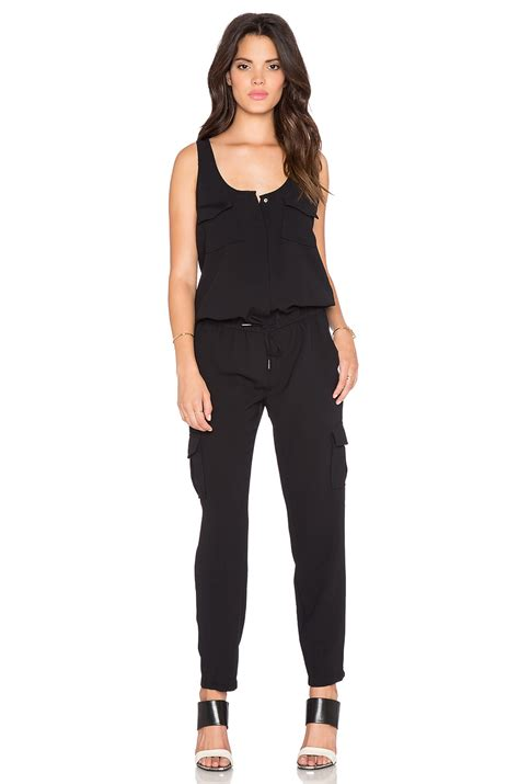 joie jumpsuit joie vernay drawstring jumpsuit in black lyst