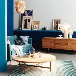 Grau Blau Wandfarbe : lieblingsfarbe blau wohntipps dekoideen living at home ~ Frokenaadalensverden.com Haus und Dekorationen