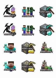 Edible cupcake toppers, Cupcake toppers and Minecraft on