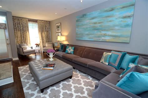 grey white and turquoise living room turquoise living room transitional living room other