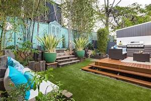 amenager petit jardin 100m2 modele de jardin fleuri horenove With comment amenager un petit jardin rectangulaire 2 comment amenager un petit jardin idee deco original