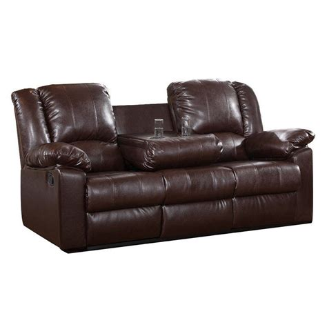 contemporary sofa and loveseat brown leather sofa modern faux couch reclining cup holder