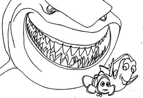 Free Coloring Pages Of Finding Nemo Shark 9361
