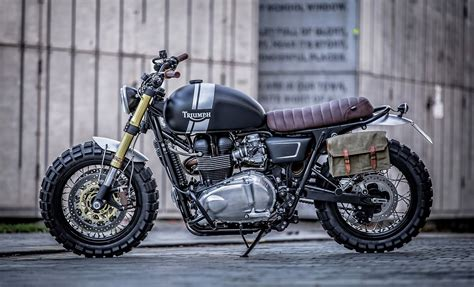gold forks and out motorcycles t100