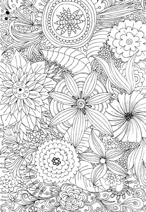 advanced flower coloring pages  kidspressmagazinecom