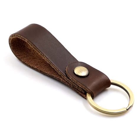 leather key holder brown handmade key chain car key rings 100 guaranteed genuine