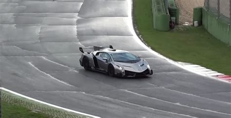 Seeing The Lamborghini Veneno On A Wet Track Is Something