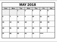 May 2018 Calendar With holidays Printable file Doc