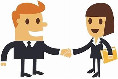 Shaking Hands Clipart Business Cartoon Businessman Boss