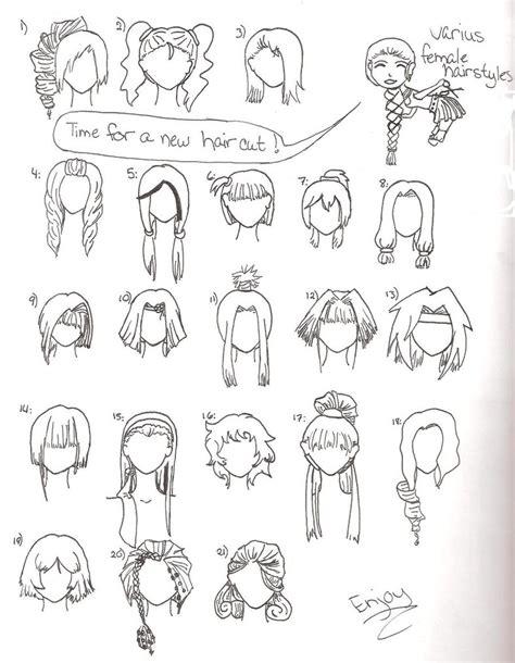 varius female hairstyles  wandereratheart  deviantart