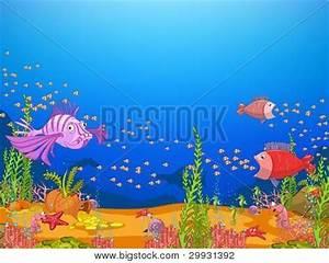 Ocean Underwater World Cartoon. Vector & Photo   Bigstock
