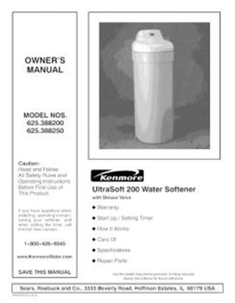 Water Softener Kenmore Water Softener 400 Manual