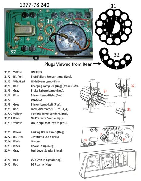 volvo 240 instrument cluster and wiring