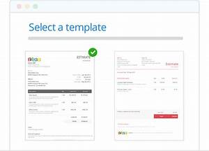 zoho creator templates - create and send estimate online zoho invoice