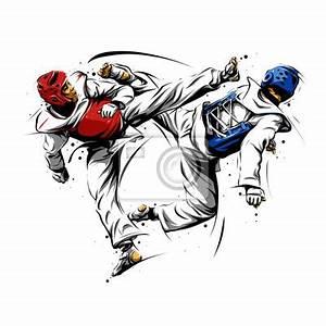 Papier Peint Action : action de taekwondo 1 papier peint papiers peints art ~ Melissatoandfro.com Idées de Décoration
