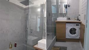 amenager une petite salle de bain en longueur 2 With amenager une petite salle de bain avec baignoire