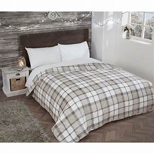Brushed, Cotton, Check, Bedspread