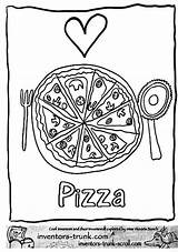 Pizza Coloring Printable Colouring Steve Barbie sketch template