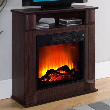 electric fireplaces at walmart prokonian electric fireplace with 26 quot mantle cherry