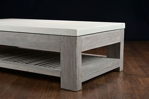 coffee table creating concrete coffee table slatted teak