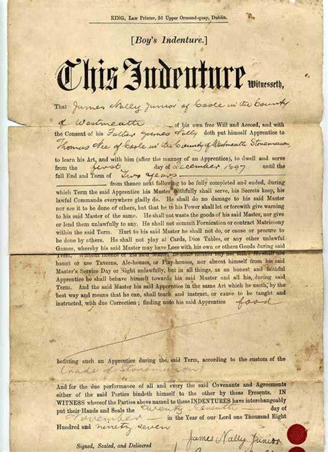grandfathers indentured servant agreement confederate