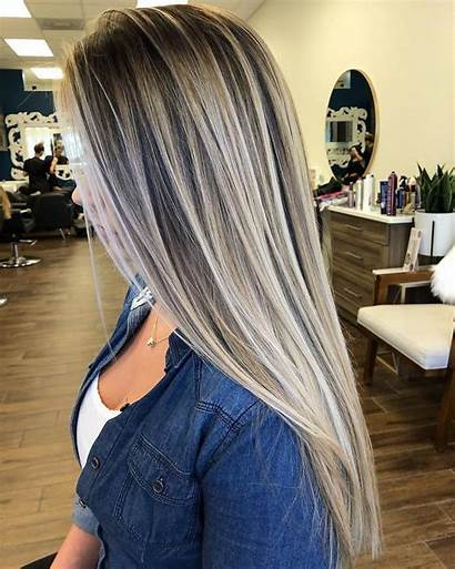 Balayage Ombre Highlights Blonde Subtle Haircut Triple