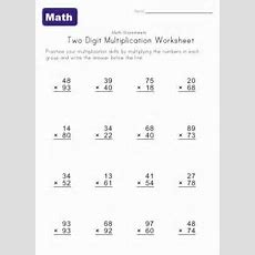 Two Digit Multiplication Worksheet 3  Math Ideas  Multiplication, Multiplication Worksheets