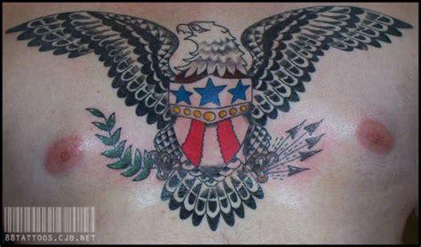 sailor jerry eagle chest piece tattoo