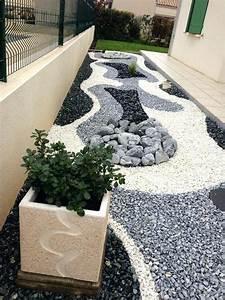 Cailloux Pour Jardin : decoration jardin galets blancs ~ Melissatoandfro.com Idées de Décoration
