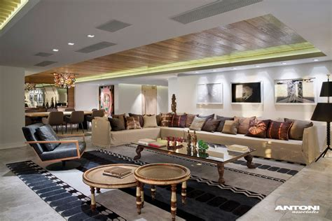 mansion living room with tv world of architecture clifton view mansion by antoni Modern