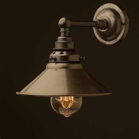 bronze straight arm wall shade edison light globes